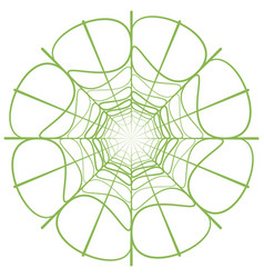 abstract linear green circle vector image vector image