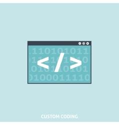 Custom Coding vector image