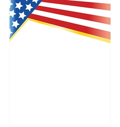 flag of the united states frame vector image vector image