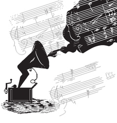 old phonograph vector image