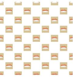 salmon sushi pattern vector image vector image