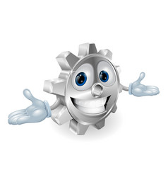 cog cartoon character vector image vector image