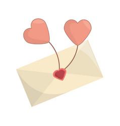 Envelope message balloon heart romance vector