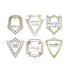 graphical shields vector image vector image