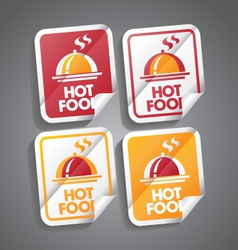 Hot Food Sticker vector image