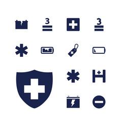 13 plus icons vector