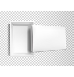 3d realistic white empty box mock-up vector image