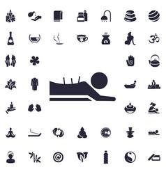 Acupuncture massage icon vector
