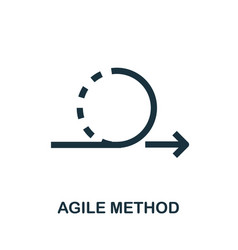Agile method icon simple creative element filled vector