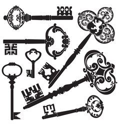 Antique keys vector