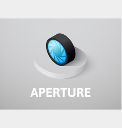aperture isometric icon isolated on color vector image
