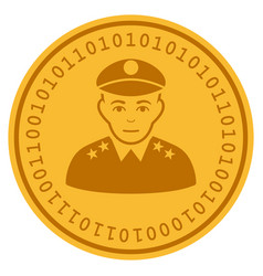 Army general digital coin vector