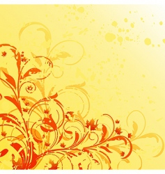 autumn floral grunge background vector image