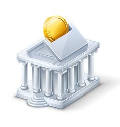 bank building vector image