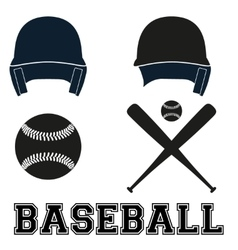 Baseball symbols Flat style vector image