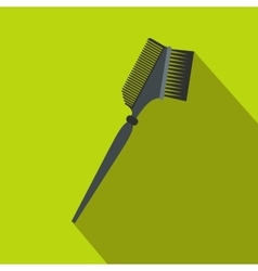 Bilateral comb flat icon with shadow vector