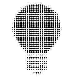 Black dot electric bulb icon vector