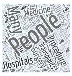 Bone marrow transplant Word Cloud Concept vector