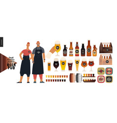 Brewery craft beer pub - small business graphics vector