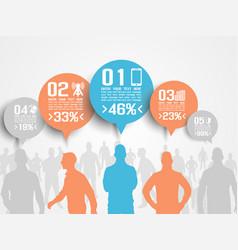 business man infographic option three 3 orange vector image