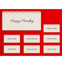 Calendar and happy days vector