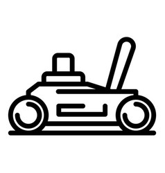 Car jack icon outline style vector