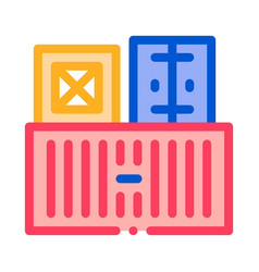 cargo containers icon outline vector image