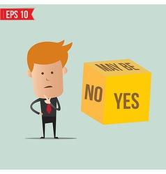 Cartoon Business man select choice - - EPS10 vector image