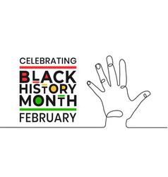 celebrating black history month february banner vector image