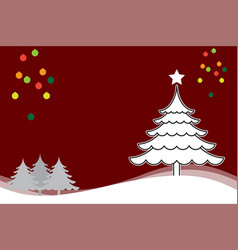 christmas background with christmas tree white vector image