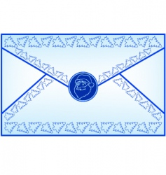 christmas letter vector image