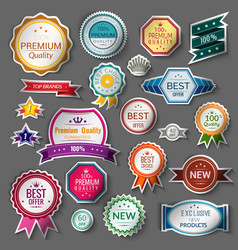 Color sale stickers set vector image