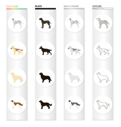 dalmatian dog german shepherd breed retriever vector image