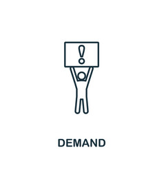 Demand icon outline style thin line creative vector