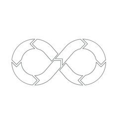 Devops symbol outline vector
