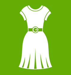 dress icon green vector image