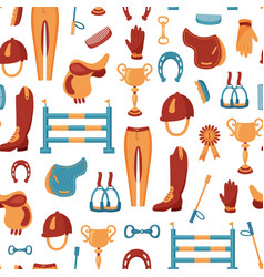 equestrian pattern vector image
