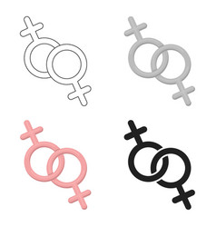 Feminine icon cartoon single gay icon from the vector