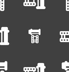 Film Icon sign Seamless pattern on a gray vector