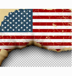 flag country torn paper burning vector image