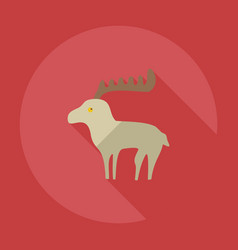 Flat modern design with shadow icons moose vector