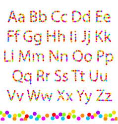 Font color circles vector