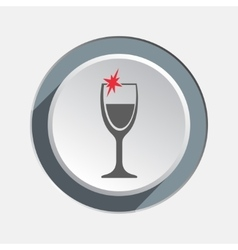Glass of wine icon Drink bar holiday Christmas vector