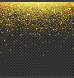 Gold glitter stardust background vector