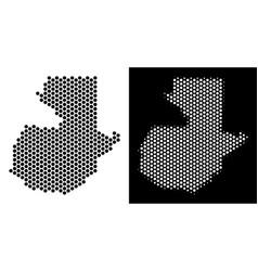 guatemala map hexagonal abstraction vector image