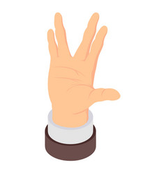hand sign icon isometric style vector image