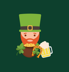 happy saint patricks day design vector image