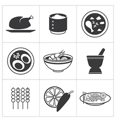 icon thai food vector image