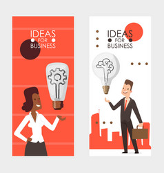 ideas for business vertical vector image