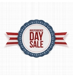 Independence Day Sale realistic Label vector image